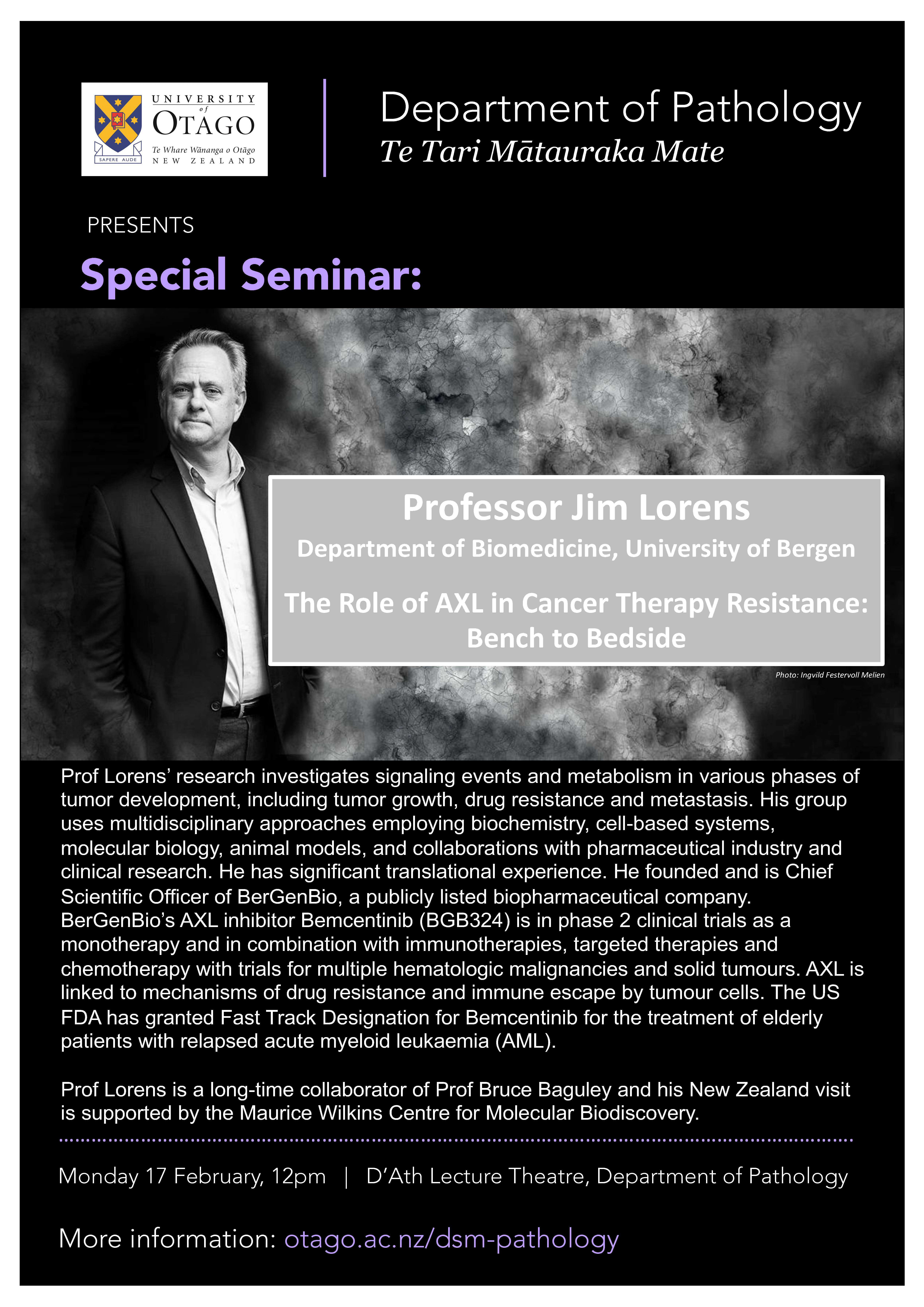 Seminar- Professor Jim Lorens